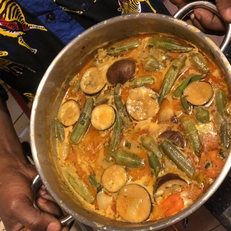 Baba Wague's Tiga Dege Na (West African Peanut Soup)